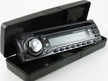 Car radio with CD. Royalty Free Stock Photos