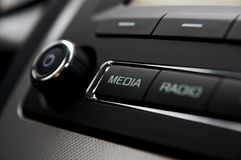 Car radio detail Stock Photo