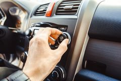 Car Radio In The Car Royalty Free Stock Photos