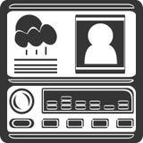 Car Radio Navigation - Display and Buttons stock illustration