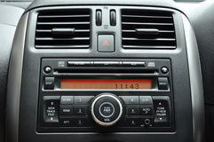 Car radio panel. Modern car radio conctrol panel Stock Image