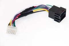 Car radio player instalation cables Royalty Free Stock Photos
