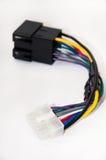 Car radio player instalation cables Stock Photo