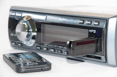 Car radio player with remote and usb flash Stock Image