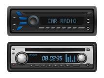 Car radio set. On a white background vector illustration