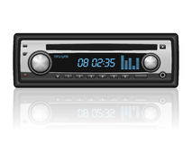 Car radio. On a white background vector illustration