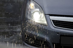 Car in the rain Stock Photography