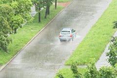 Car rain hail stock images