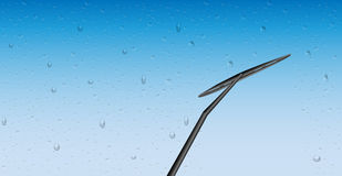 Car rain wiper vector Stock Images