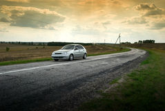 Car on raod Stock Photography