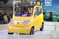 A car RE on display at the Auto Expo 2012 Stock Photo