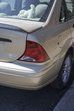 Car rear end. Picture of rear side view of car taillight royalty free stock photos