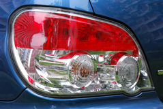 Car Rear Lights. A photo taken on a blue car rear tail lights Royalty Free Stock Images