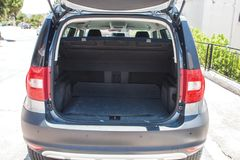 Car rear luggage background. Sunny day royalty free stock photos