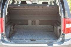 Car rear luggage background. Sunny day royalty free stock image