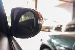 Car Rear Mirror Royalty Free Stock Photography