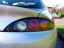 Car Rear right. The rear lights on a silver car royalty free stock images