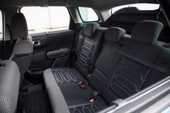 Car Interior: Rear Seats. Car Rear Seats Seen Through the Lateral Window Royalty Free Stock Image