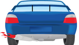 Car Rear View Royalty Free Stock Photography
