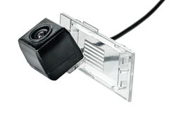 Car rear view camera with a transparent plafond. On a white background Stock Photography