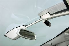 Car rear view mirror. Two rear view mirror against sky Royalty Free Stock Photos
