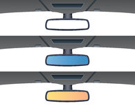 car rear view mirrors, vector  Royalty Free Stock Photography