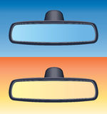 Car rear view mirrors, vector  Stock Images