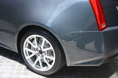 Car Rear Wheel Detail Royalty Free Stock Photography