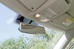 Car rearview mirror Royalty Free Stock Photo
