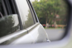 Car rearview mirror royalty free stock photos