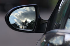 Car rearview mirror Royalty Free Stock Images