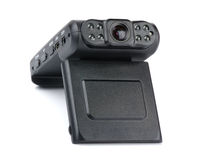 Car recorder. Car digital video recorder on white background Royalty Free Stock Photography