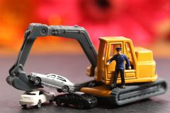 Car recycling royalty free stock images