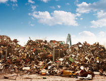 Car recycling dump Stock Image