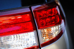Car red brakes lights Royalty Free Stock Image
