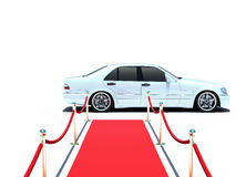 Car and red carpet Stock Image