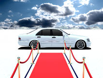 Car and red carpet Stock Photography