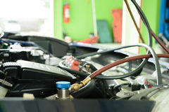 Car refilling air condition Stock Image