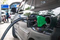 Car refuel at eco-friendly gas station Royalty Free Stock Image