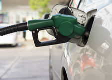 Car refuel. In gas station Stock Image
