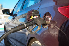 Car refuel in gas station Royalty Free Stock Image