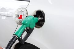 Car refuel at gas station Royalty Free Stock Images