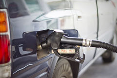 Car refuel in gas station. Stock Image