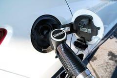 Diesel. Car refueling diesel pump at petrol station stock photos