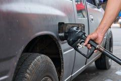 Car refueling stock photo