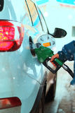 Car refueling gasoline Stock Photography
