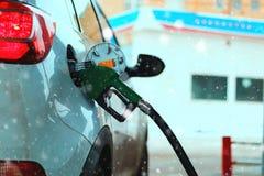 Car refueling gasoline stock photos