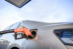 Car refueling Stock Images