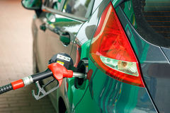 Car refueling on a petrol station Royalty Free Stock Photos
