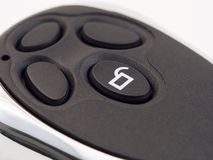 Car remote control. Close up of car remote control royalty free stock photo